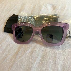 Diff Eyewear Accessories - DIFF Carson Square 55mm Acetate Sunglasses